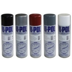 U-POL - LAKIER CZARNY MAT SPRAY 500ML POWER CAN PCMB/AL